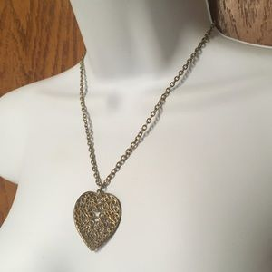 Jewelry - Faux Gold Indian Heart Necklace